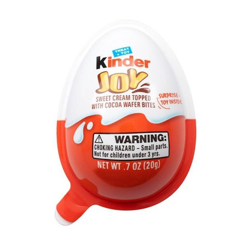 Kinder Joy Sweet Cream Topped with Cocoa Wafer Bites Chocolate Treat + Toy - 0.7oz - image 1 of 15