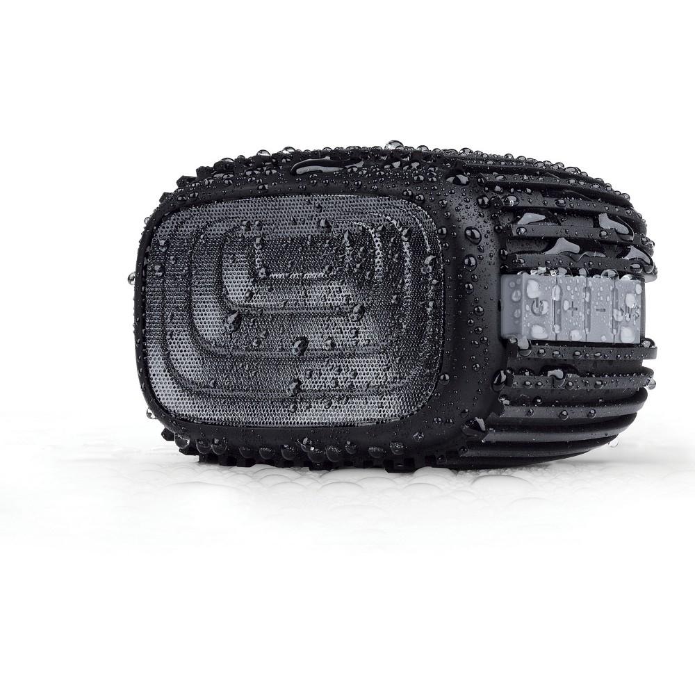 Merkury Trax Rugged Wireless Bluetooth Speaker - Black (MI-SPB12-101), Black/Gray Merkury Trax Rugged Wireless Bluetooth Speaker - Black (MI-SPB12-101) Color: Black/Gray.