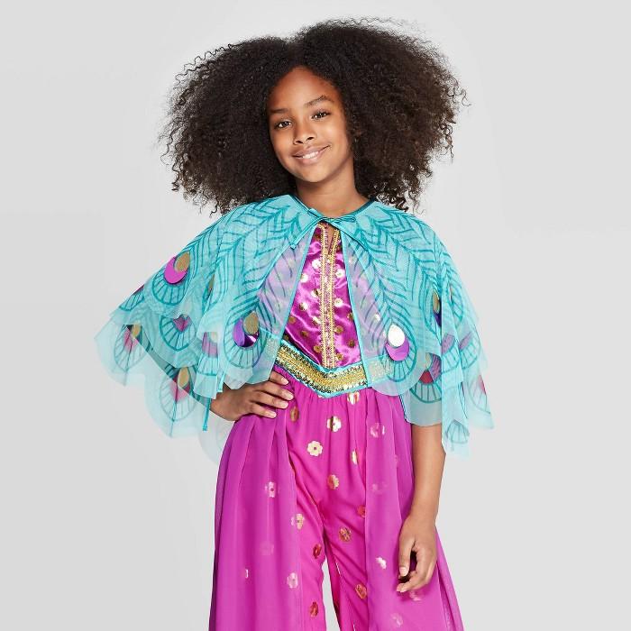 Girls' Aladdin Jasmine Cape - Light Turquoise - image 1 of 3