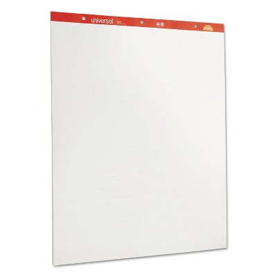 UNIVERSAL Recycled Easel Pads Unruled 27 x 34 White 50 Sheet 2/Carton 35600
