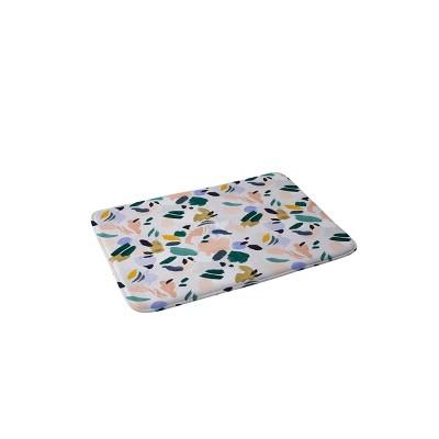 Marta Barragan Camarasa Terrazzo Brushstrokes Memory Foam Bath Mat - Deny Designs