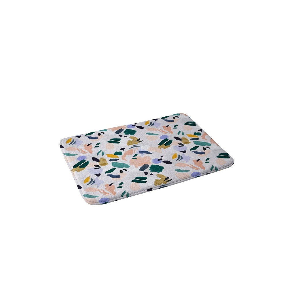 Marta Barragan Camarasa Terrazzo Brushstrokes Memory Foam Bath Mat Deny Designs