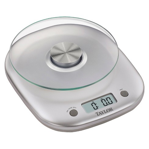 taylor 11lb glass platform digital food scale target