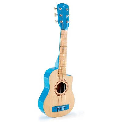Hape E0601 Flame First Toddler & Kids Wooden Toy Guitar Musical Instrument for Beginners Ages 3 and Up, Blue