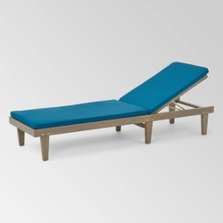 Nadine Gray Acacia Wood Chaise Lounge - Christopher Knight Home