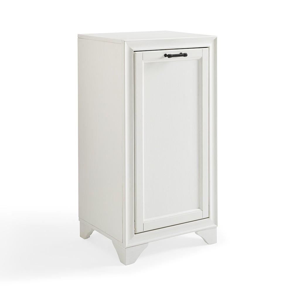 Image of Tara Linen Hamper Decorative Wall Cabinet White - Crosley