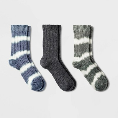 Women's Tie Dye 3pk Ribbed Crew Socks - Universal Thread™ 4-10
