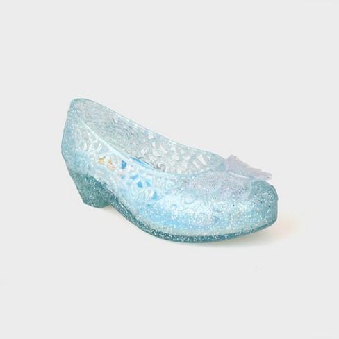 d1fb1f901e33 Toddler Girls  Disney Princess Ballet Jelly Shoes - Blue   Target