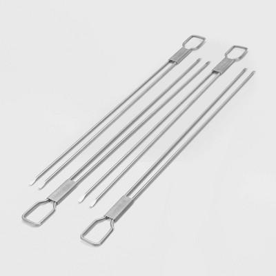 Broil King 4pk Dual Prong Skewers Stainless Steel