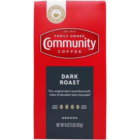 Community Coffee Dark Roast Ground Coffee - 16oz - image 1 of 4