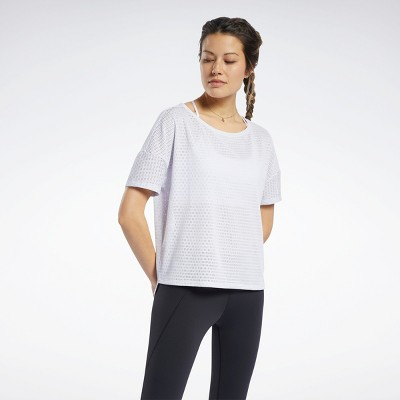 Reebok Perforated Tee Womens Athletic T-Shirts