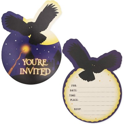 36-Pack Wizard Party Invitations with Envelopes, Fill-in Invitation Cards for Kids Birthday and Halloween, 5 x 7 inches