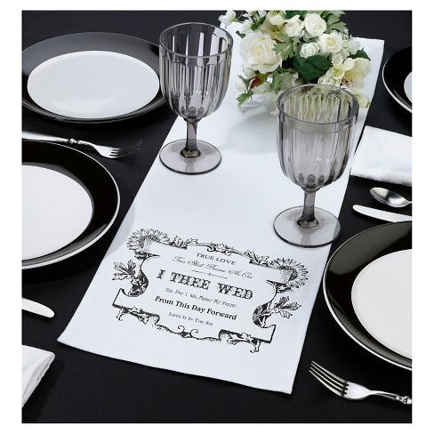 True Love White Table Runner - image 1 of 1
