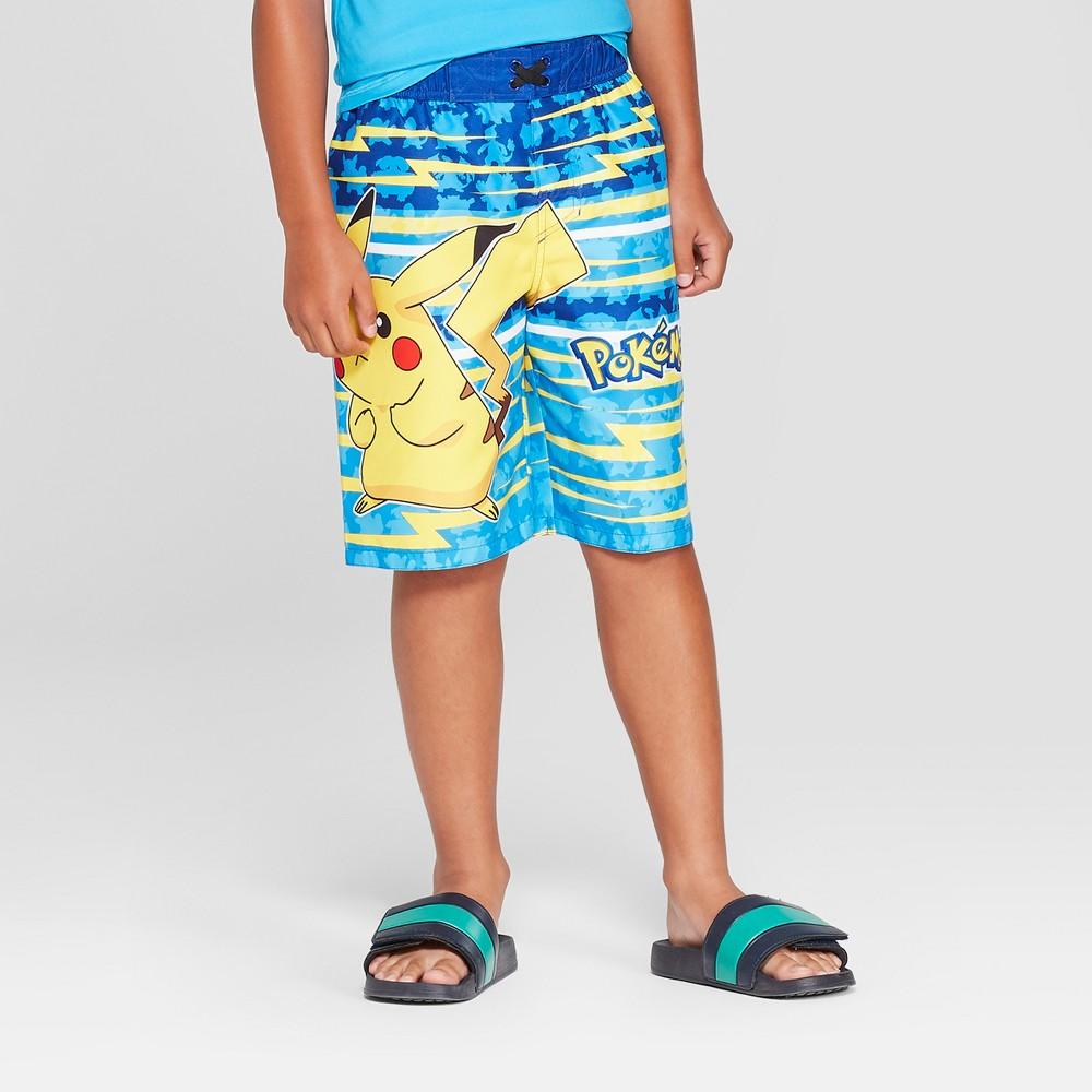 Boys' Pikachu Swim Trunks - Blue S