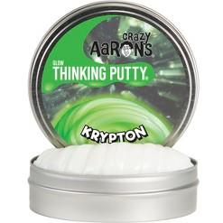 """Crazy Aaron's Thinking Putty 4"""" Krypton Tin"""