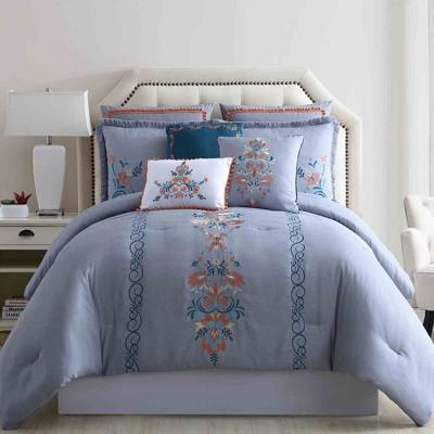 Modern Threads 8 Piece Embellished Comforter Set Frida.
