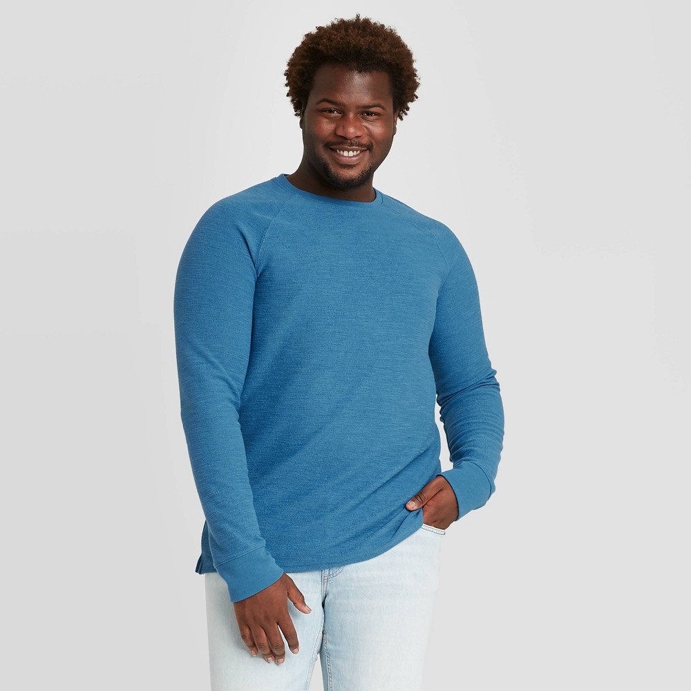 Promos Men's Tall Standard Fit Long Sleeve Textured Crew Neck T-Shirt - Goodfellow & Co™