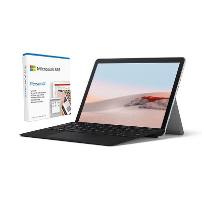 """Microsoft Surface Go 2 VALUE BUNDLE 10.5"""" Intel Pentium Gold 8GB RAM 128GB SSD+Surface Go Type Cover Blk+Microsoft 365 Personal 1 Yr For 1 User"""