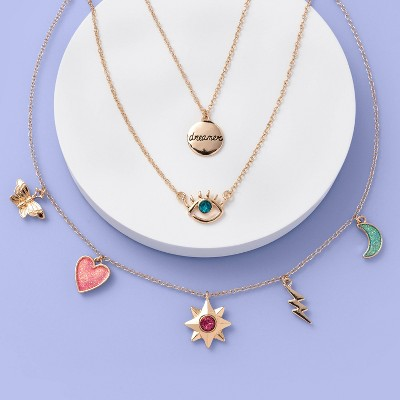 Girls' 3pk Charms and Lobster Necklace Set - More Than Magic™