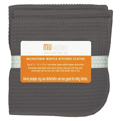 Waffle Microfiber Cloth (Set Of 3)- Mu Kitchen