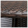 Nelson 3-piece Wicker Patio Bistro Set - Brown - Christopher Knight Home - image 4 of 4