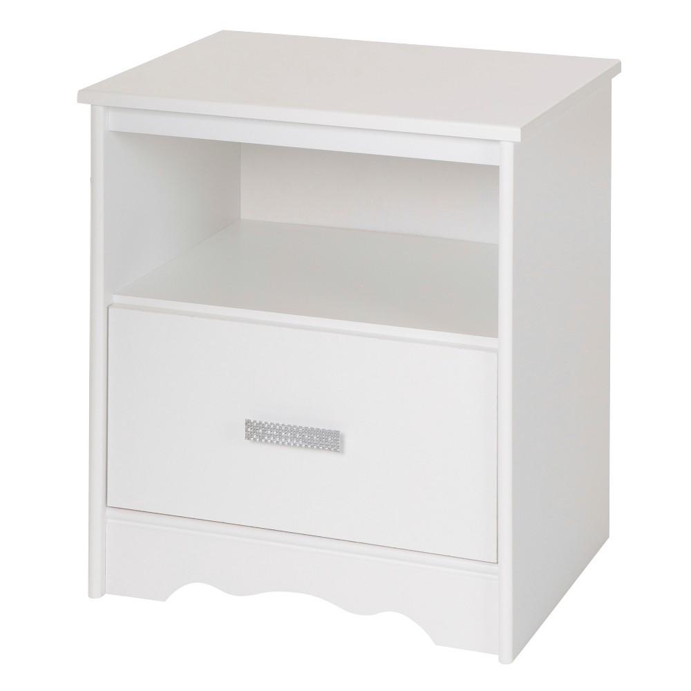 Tiara 1-Drawer Nightstand - Pure White - South Shore
