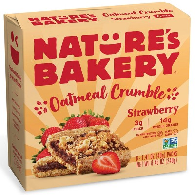 Nature's Bakery Strawberry Crumble Bar - 6ct