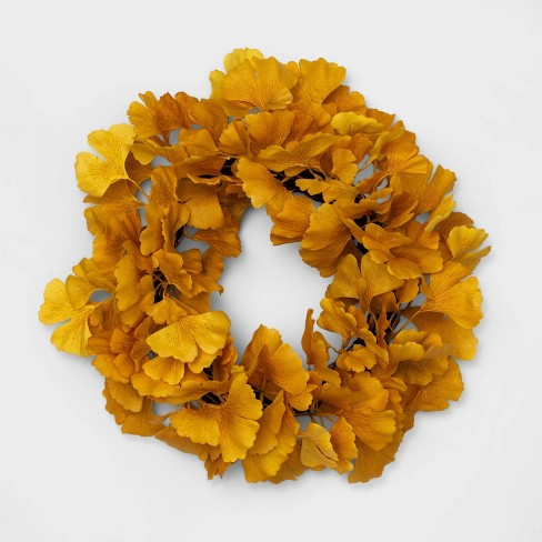 "18"" Decorative Ginkgo Wreath Yellow - Opalhouse™ - image 1 of 1"