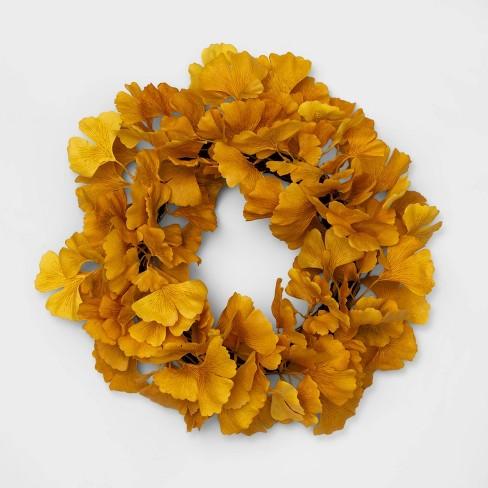 "18"" Decorative Ginkgo Wreath Yellow - Opalhouse™ - image 1 of 1"