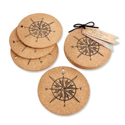 """12ct """"Let the Journey Begins"""" Cork Coasters"""