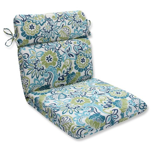 Pillow Perfect Zoe Mallard Outdoor One Piece Seat And Back Cushion - Blue - image 1 of 1