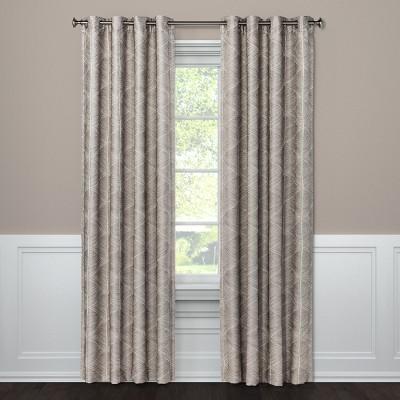 "108""x50"" Blackout Curtain Panel Modern Stroke Tan - Project 62™"