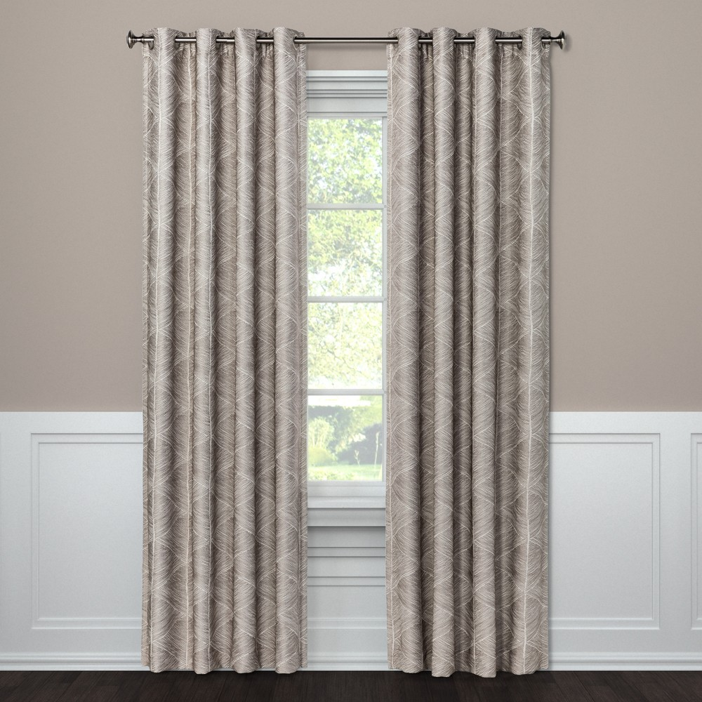 95 34 X50 34 Blackout Curtain Panel Modern Stroke Tan Project 62 8482