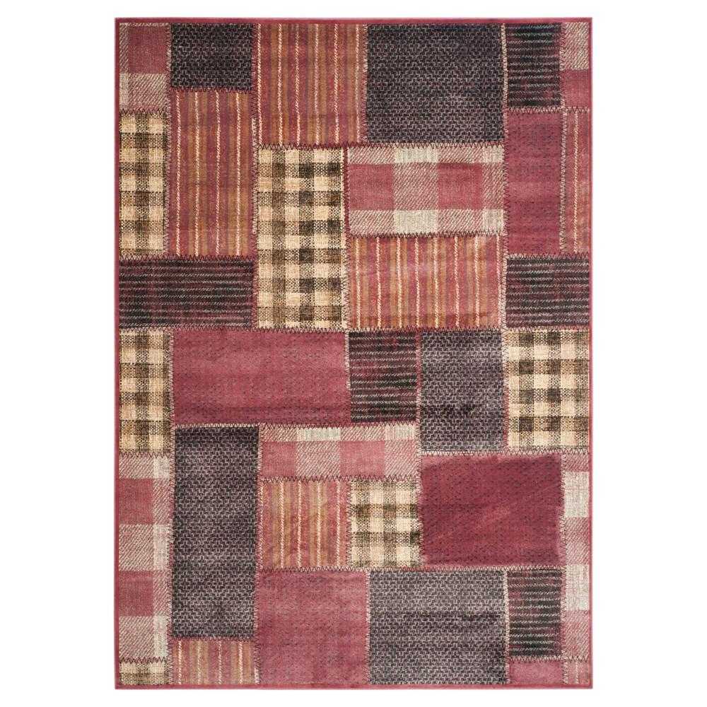 Gemma Vintage Area Rug - Red / Multi ( 5' 3