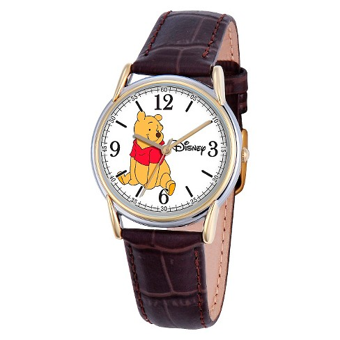 Men's Disney® Winnie The Pooh Cardiff Watch - Brown - image 1 of 2