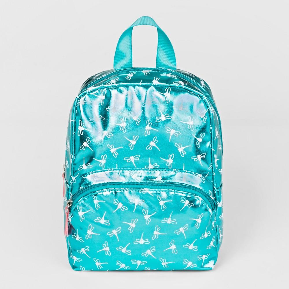 Toddler Girls' Printed Metallic Backpack - Cat & Jack Green