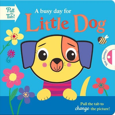 A Busy Day for Little Dog - (Push Pull Stories) by  Holly Hall (Board Book)