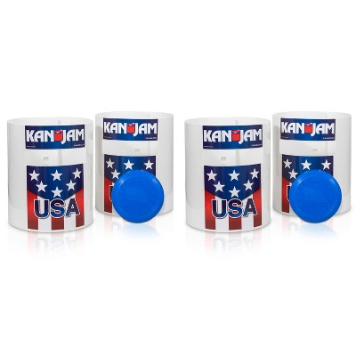 Kan Jam Portable Multiplayer Disc Slam Outdoor Backyard Camping Game with 2 Targets, 1 Disc, Goals and Instructions (2 Pack)