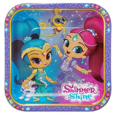 Shimmer And Shine Square Disposable Plates - 8ct - image 1 of 2