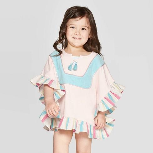 093d44ff03 Mila & Emma Toddler Girls' Swim Cover-Up - Pink : Target