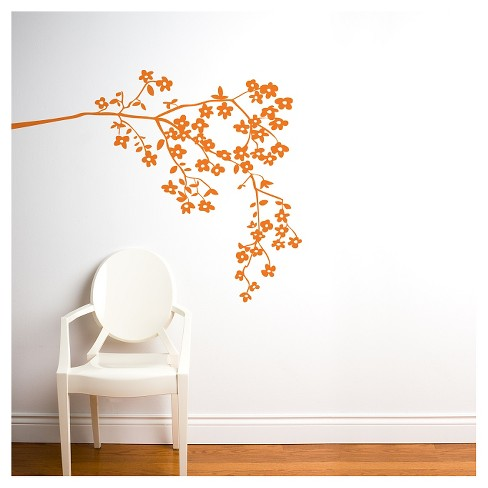 Coastline Blossoms Wall Decal - Orange - image 1 of 1