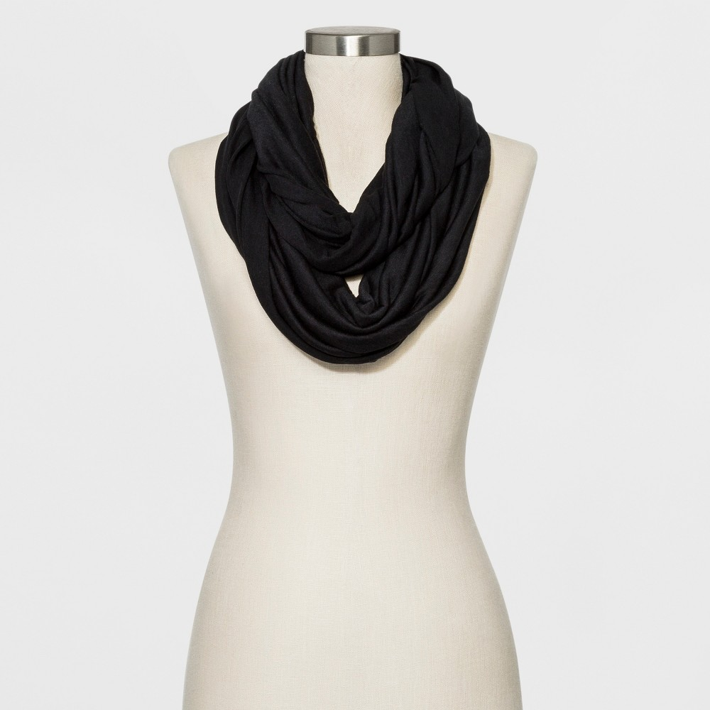 Image of Women's Collection XIIX Loop Scarf - Black One Size, Women's