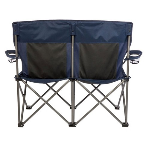 Kamp Rite 2 Person Outdoor Tailgating Camping Double Folding Lawn Chair Pack