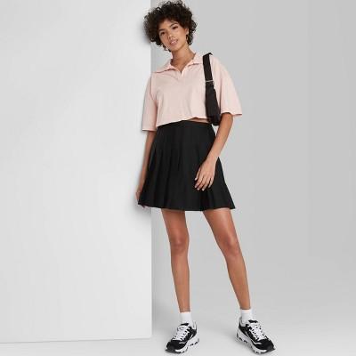Women's Woven Tennis Mini A-Line Skirt - Wild Fable™