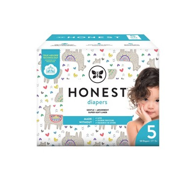The Honest Company Disposable Diapers All The Alpacas Size 5 - 50ct