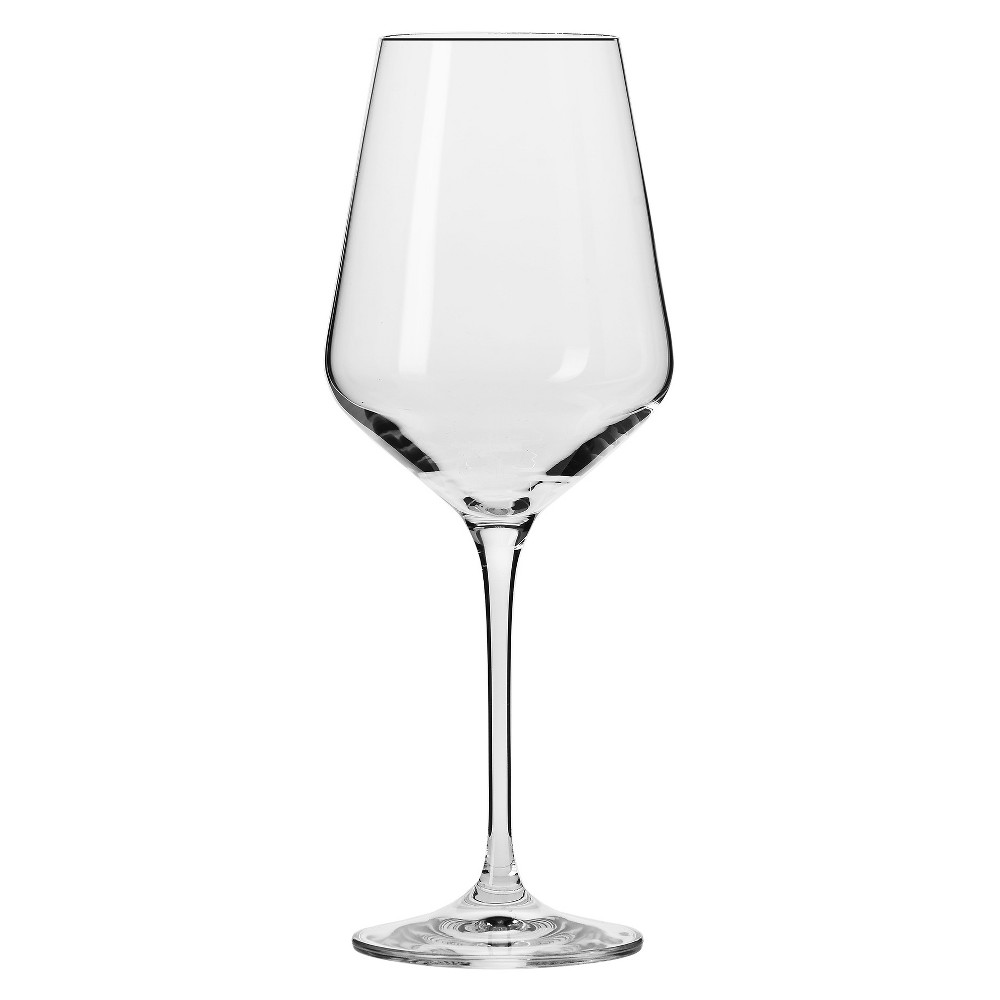 Image of Krosno Vera White Wine Glasses 13oz - Set of 6, Clear