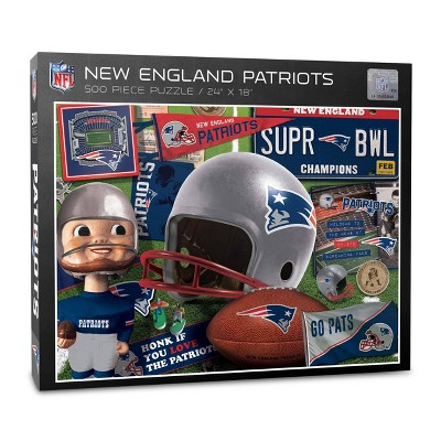 NFL New England Patriots 500pc Retro Series Puzzle