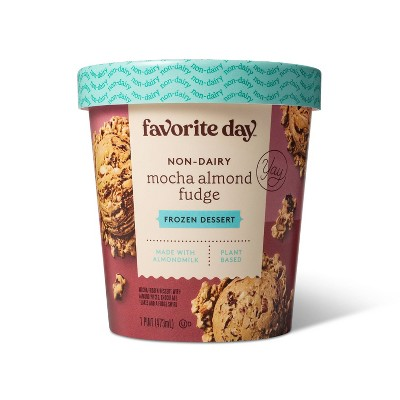 Non-Dairy Plant Based Mocha Almond Fudge Frozen Dessert - 16oz - Favorite Day™