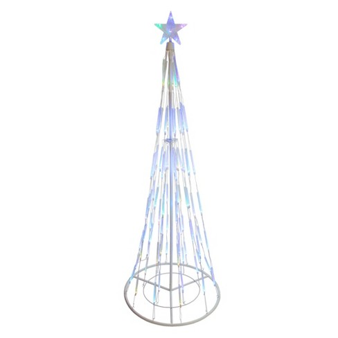 Northlight 9' Prelit Artificial Christmas Tree White Double Tier Bubble Cone Yard Art Decoration - Multicolor Lights - image 1 of 2