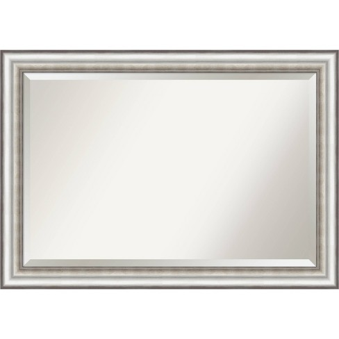 41 X 29 Salon Framed Bathroom Vanity Wall Mirror Silver Amanti Art Target